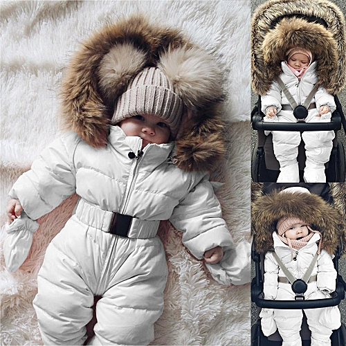 cee0155df Generic Winter Infant Baby Boy Girl Romper Jacket Hooded Jumpsuit Warm  Thick Coat Outfit