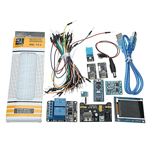 Nano V3 Climate Monitor Kit With 1 8 Inch TFT GY-68 BMP180 DHT11 RTC Relay  Module For Arduino