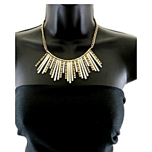 Gold Tone Short Necklace