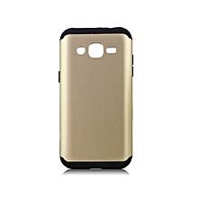 Galaxy Grand Prime G530 - Armor Back Cover – Gold & Black