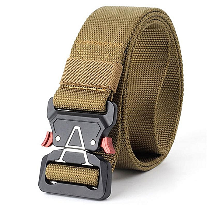 934ef9a43df Tactical Casual Nylon Canvas Belt Men Outdoor Practical Camouflage  Waistband With Training Equipment