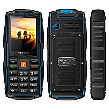 VKworld Stone V3, Triple SIM, IP68 Waterproof Shockproof Dustproof,  3000mAh Large Capacity, 2.4 inch, SC6531CA Chipset, 21 Keys, LED Flashlight, FM, TF,  Russian Keyboard(Blue)