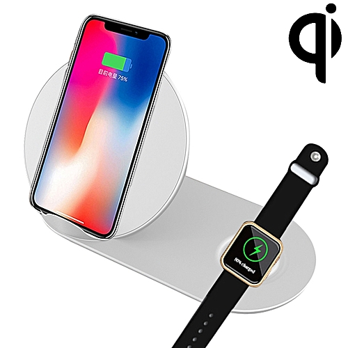 N26-1 Qi Standard Quick Wireless Charger 10W, For iPhone, Galaxy, Xiaomi,  Google, LG, Apple Watch and other QI Standard Smart Phones (White)