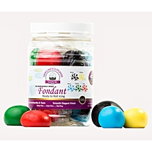 Fondant Icing assorted black, yellow, blue, green, red 500g