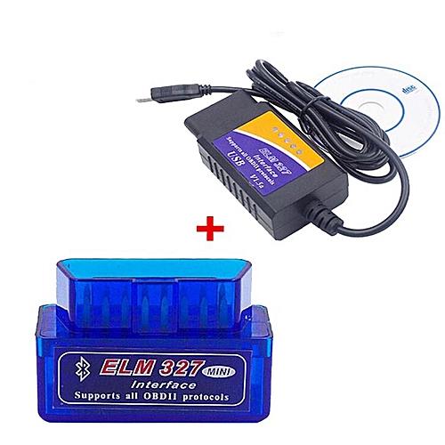 Price 2019 ELM327 V2 1 Bluetooth + ELM327 USB Diagnostic Tool ELM 327  Bluetooth OBD2 ELM327 V2 1 USB Interface