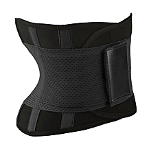 Women Waist Cincher Belt Bandage High Stretchy Adjustable Wide Waistband black