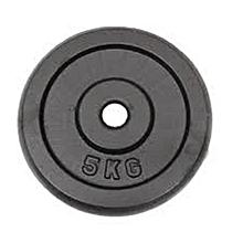 5kg gym weight plate black cast iron