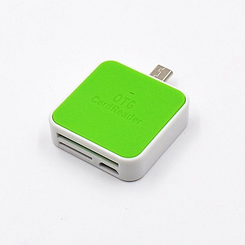 Mobile phone card reader for Android green