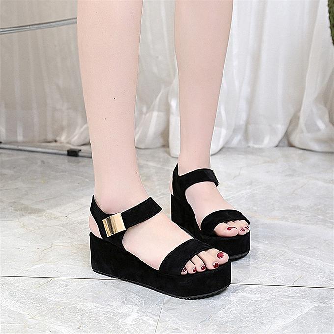 566ff7005 ... Blicool Shop Women Sandals Women s Summer Sandals Shoes Peep-toe Low Shoes  Roman Sandals Ladies ...