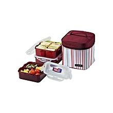 Lunch Bag Set - 3pcs - Maroon