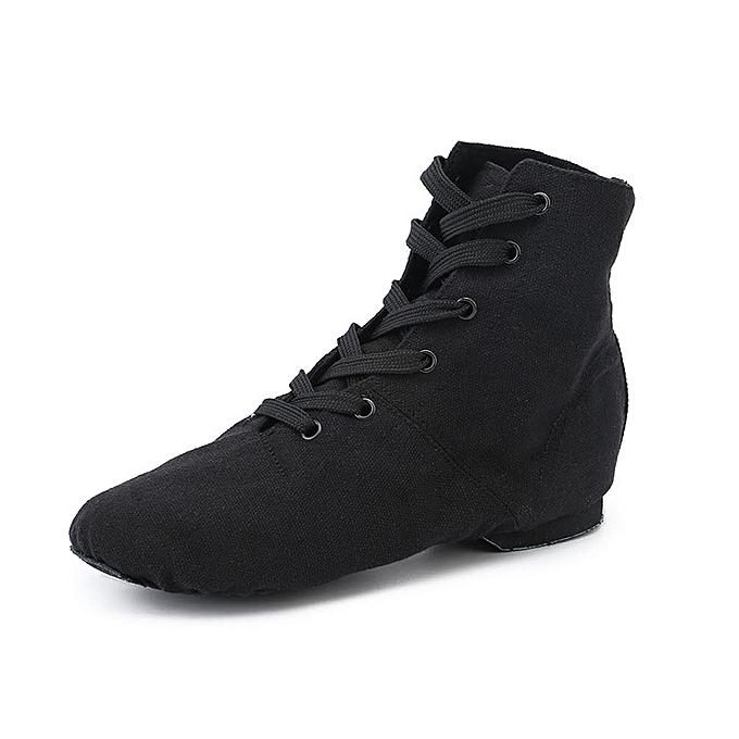 84dceee83daa6 Children Lace-up Canvas Dance Shoes Flat Jazz Boots Men Women Sports  Dancing Sneakers Jazz