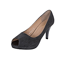 Scandal Grey Slipon Women's Heels