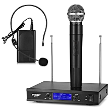 WEISRE WM - 10V A-B Wireless Sensitive Condenser Cardioid Microphone Handy with Head-wearing - BLACK