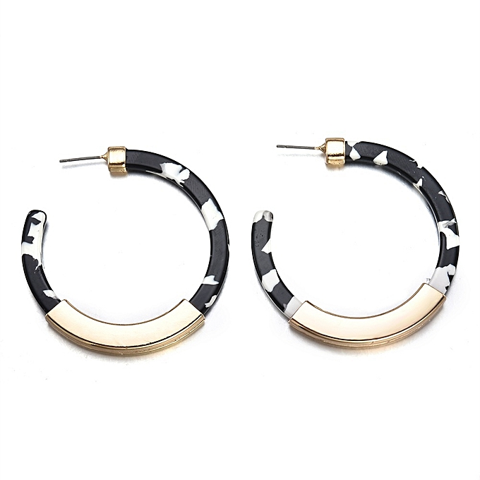 c180b5178f047 Women Acrylic Earrings Hoops Resin Large Hoop Earrings