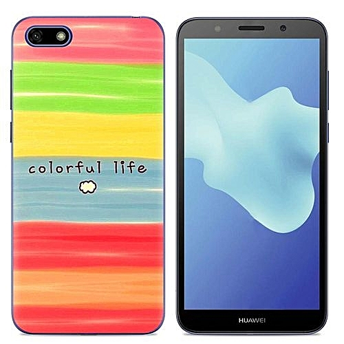 detailed look 0f49d f8f19 Huawei Y5 Prime(2018)(3PCS X Phone Case) Silicone Case, TPU Anti-knock  Phone Back Cover For Huawei Y5 Prime(2018) - Multi-color(Colorful ...