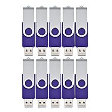 10pcs USB 2.0 Swivel Flash Drive Memory Stick Pendrive
