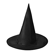 Halloween Oxford Cloth Witch Wizard Hat Magic Hat Party Toys Black Spire Hat