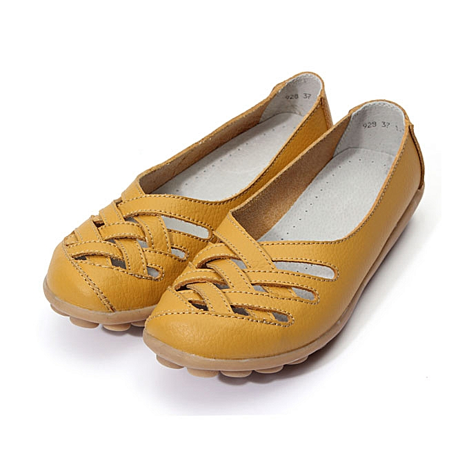 8dee7d98e8d Womens Mother Anti-skid Loafers Slip on Boat Ballet Casual Flat Leather  Shoes