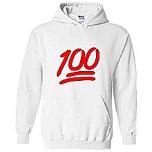 White 100%  Hoodie