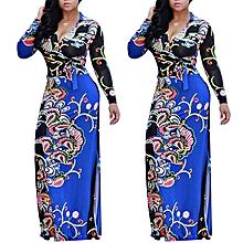 Nigerian Evening Gown Anakara Style Maxi Dresses-Blue