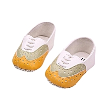 Foreign trade wholesale baby toddler shoes baby soft bottom shoes 0-1 years old princess shoes hot spring YELLOW-UK