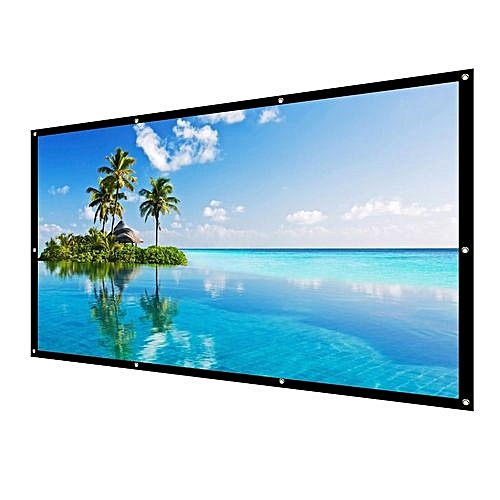 9e2fafed1b3b UNIVERSAL Manual Pull Down Projector Projection Screen Home Theater Movie  60   4 3 16 9 US