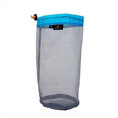 a38753f3f44d Ultralight Mesh Drawstring Sack Outdoor Travel Hiking Camping Stuff Storage  Bag(Blue S)