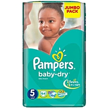 Diapers, Baby Dry - Jumbo Pack No. 5 (Count 64)
