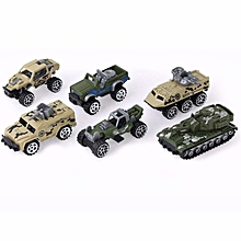 New 6PCS/LOT Diecast mini alloy Military Vehicle Car Dump-car Dump Truck Model Classic Toy Mini gift