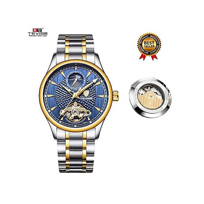 0305e1dcaef Popular Top Brand Relogio Automatico Masculino Men Mechanical Watch Fashion  Blue Waterproof Business Luxury Wristwatch Male