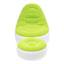 Intex Inflatable Sofa Chair Adult Bean Bag Soft Light Beanless Camping Seat New#Green