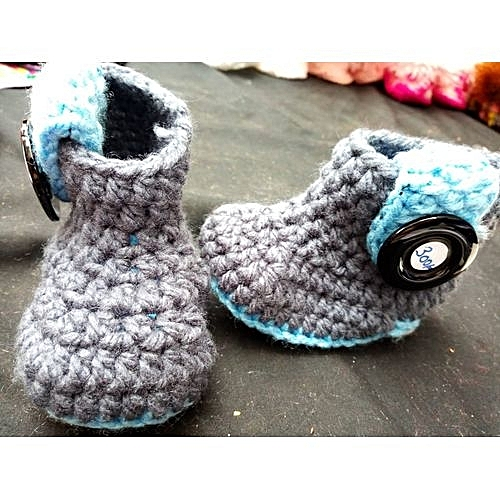 Generic Baby Crochet Shoes Grey Blue At Best Price Jumia Kenya