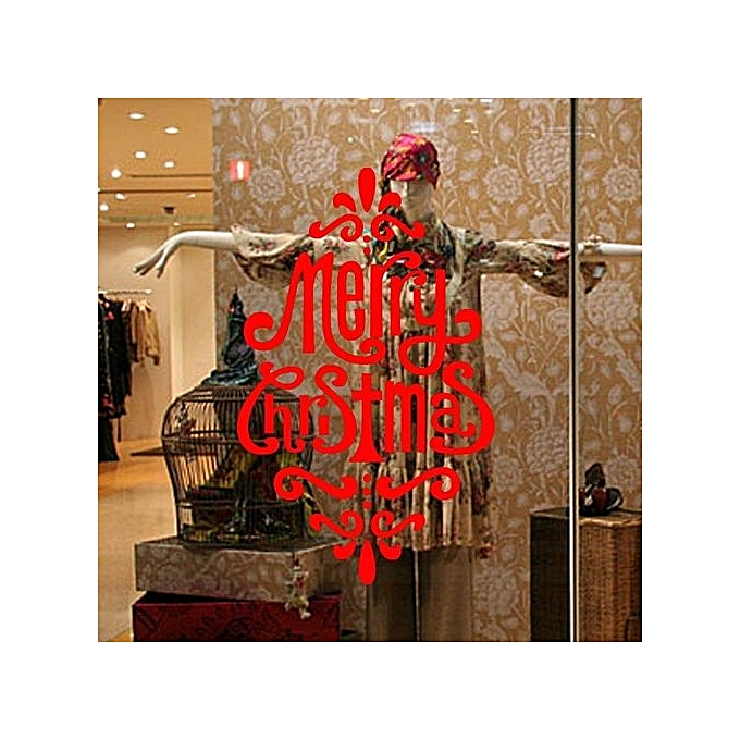 diy christmas wall home vinyl window wall stickers decal decor removable red m 35