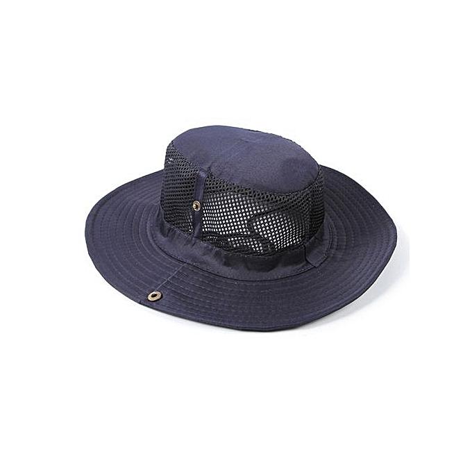 Zetenis Men Outdoor Camping Fishing Cap Sun Protection Boonie Hat Wide Brim  BU -Bule 2ca2c559c49