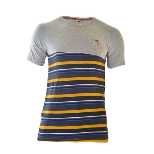 Grey T-shirt With Patterns At The Bottom