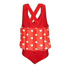 Red & White Swimsuit With Removable Floating Foams