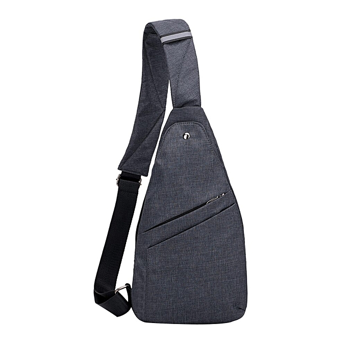 cc795b71 Fashion Thin Light Men Canvas Anti-theft Travel Outdoor Shoulder Chest  crossbody bag messager bag for men(Black)