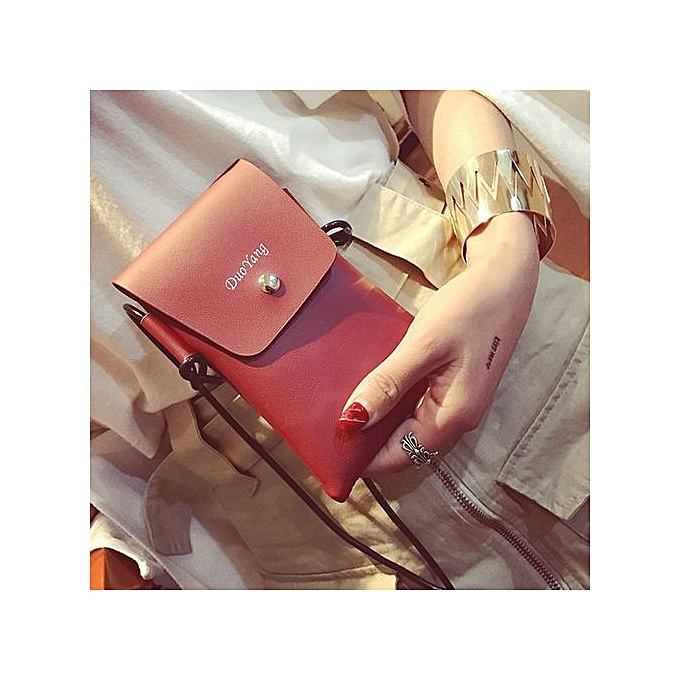 Zetenis Women Soft Leather Crossbody Cellphone Purse Bag Small Wallet  Shoulder Bag RD - Red c12d35c758131