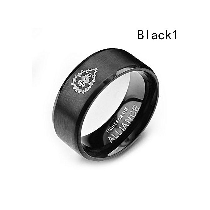 World Of Warcraft Ring Game Tribal Alliance Ringblack Size 9