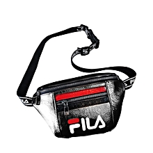 FILA Fashion Waist Bag All-match Square Shape Adjustable Strap PU Waist Bag