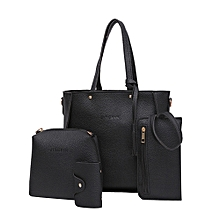 Women Four Set Handbag Shoulder Bags Four Pieces Tote Bag Crossbody Wallet Bags