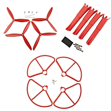 Propellers Protection Cover & Landing Gear Set For MJX B2W B2C RC Quadcopter-Red