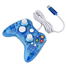 Wireless / USB Wired Transparent Clear Game Controller Gamepad Joystick For XBOX360 / PC