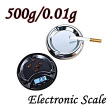 Technologg Electronic Scale  500g/0.01g Electronic Digital LCD Display Scale Portable Pocket Jewelry Scale-Silver