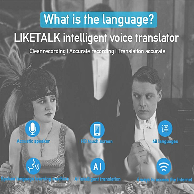 Portable Smart Voice Translator Upgrade Version For Learning Travel  Business Meeting 49 Language Translator Touch Screen ASQOA