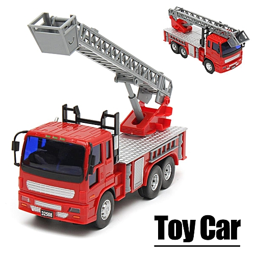 Fire Engine Water Truck Car w/ Ladder Model Alloy Diecast Toy Vehicle Gift  Kid