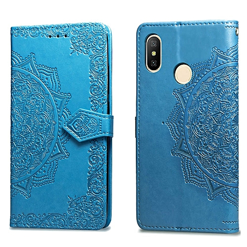 new concept 19330 f5de8 Redmi Note 5 Pro Case,Mandala Embossing PU Leather Magnetic Flip Folio  Kickstand Wallet Case with Card Slots Case for Xiaomi Hongmi Note 5 Pro  5.99