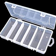 Plastic Fishing Lure Bait Box Storage Organizer Container Case 5 Compartments
