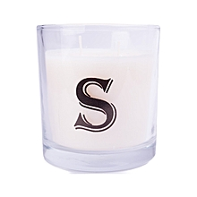 """Letter """"S"""" Alphabet Scented candle - White"""