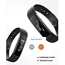 Pulsometer Watches Fitness Bracelet ID115 Heart Rate Monitor Smart Band Fitness Watch Pedometerd – Black